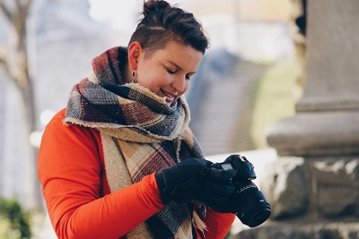 Marie-Pierre Lessard is a tour guide in Quebec City